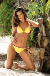 Kostium kąpielowy Anis Banana-Very Fuchsia M-427 (9)