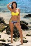 Kostium kąpielowy Aurelia Paski-Yellow M-558 (5)
