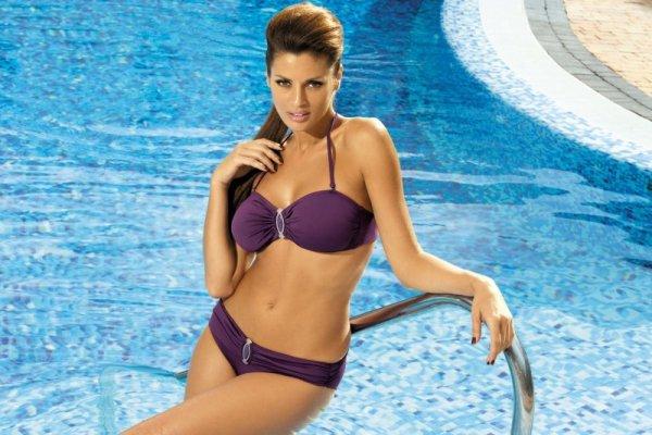 Kostium kąpielowy Bella Vampiro M-195 Fioletowy (133)