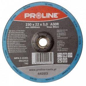 TARCZA DO CIĘCIA METALU WYP. T42, 115x2.5x22A30S PROLINE