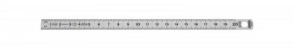 Przymiar dwustronny 20 cm ze stali nierdzewnej