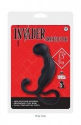 Masażer prostaty - Invader Prostate Silikonowy korek dł.9cm czarny