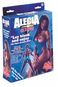 Lalka-ALECIA KING PVC SCREENING BLACK DOLL