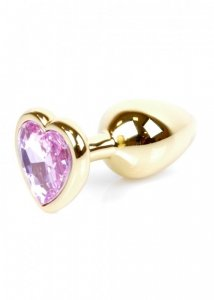 Plug-Jewellery Gold  Heart PLUG- Rose