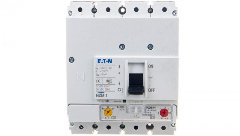 Wyłącznik mocy 100A 4P 50kA NZMN1-4-A100 265819
