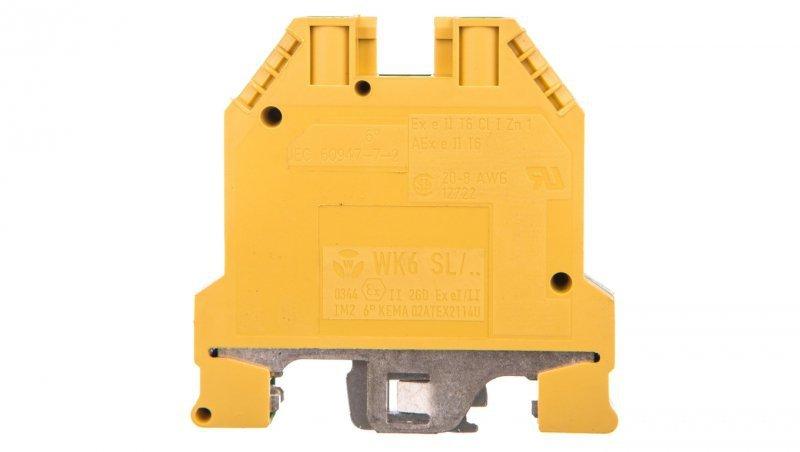 Zacisk szeregowy ochronny PE 6mm2 poliamidowy żółto-zielony KXB06E