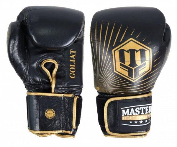 Rękawice bokserskie skórzane MASTERS GOLIAT 16 oz - RBT-16G
