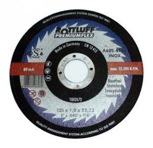 TARCZA PŁASKA T1A 125*1.0*22 A60T-BF INOX PREMIUMFLEX
