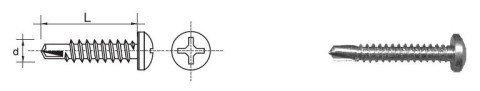 WKRĘT SAMOWIERTNY OCYNKOWANY D7504M-H 4.2*16MM