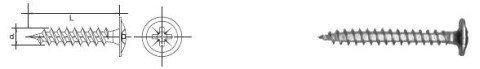 WKRĘT DO DREWNA ŁEB PODKŁADKOWY WHD 4.0*35MM