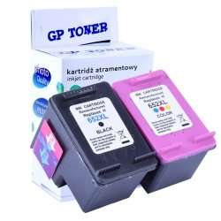 2x Tusze do HP 652 XL Deskjet Ink Advantage 1115 2135 2136 3635 3775 3785 3835 4535  - zamiennik GP-H652XL CMYK