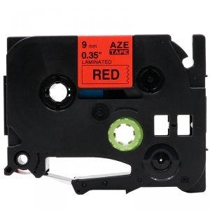 Taśma zamiennik do Brother TZ-421 Czarny na Czerwonym