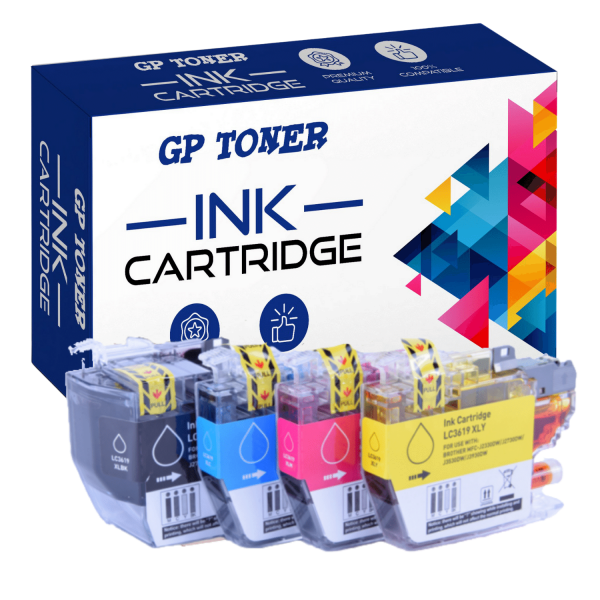 4x Tusze do Brother LC3619XL MFC-J2330dw J3530dw J3930dw - GP-B3619XL CMYK - Zestaw