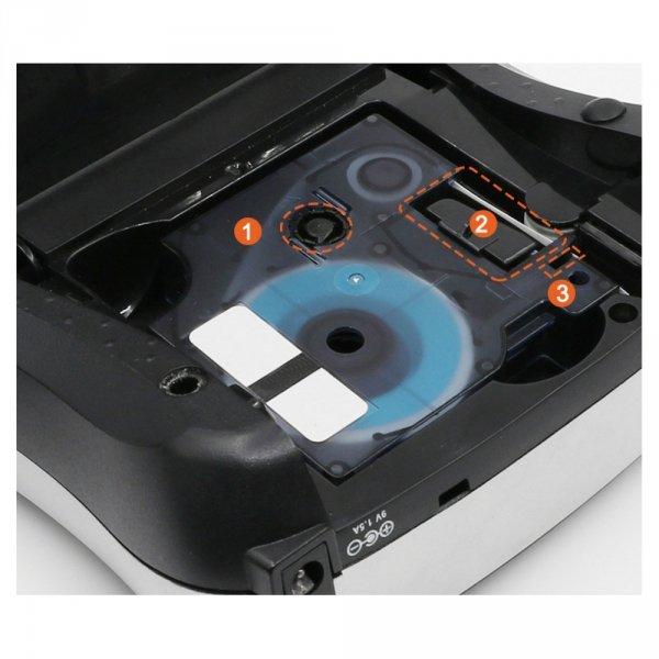 3x Taśma do DYMO D1 43613 7m 6mm biało czarna zamiennik GP-DY43613 x3