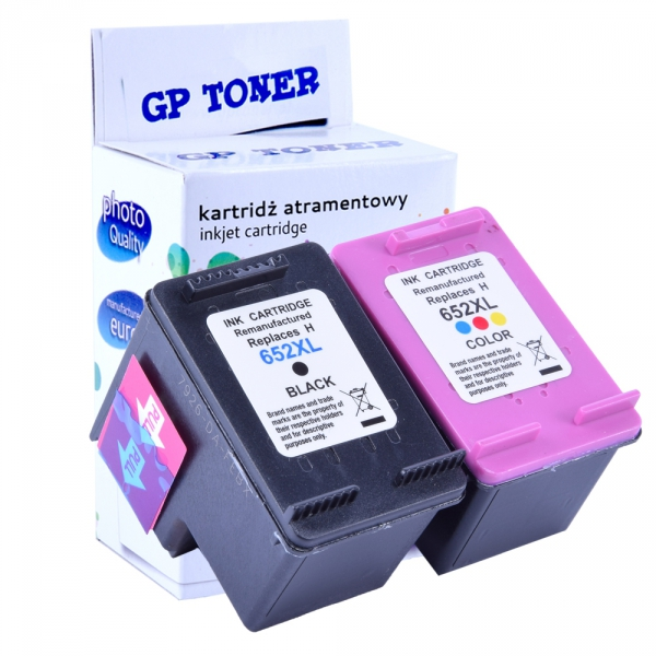 Tusze do HP 652 XL Deskjet Ink Advantage 1115 2135 2136 3635 3775 3785 3835 4535