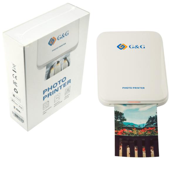 G&G Photo Printer Mini Drukarka do zdjęć ZINK