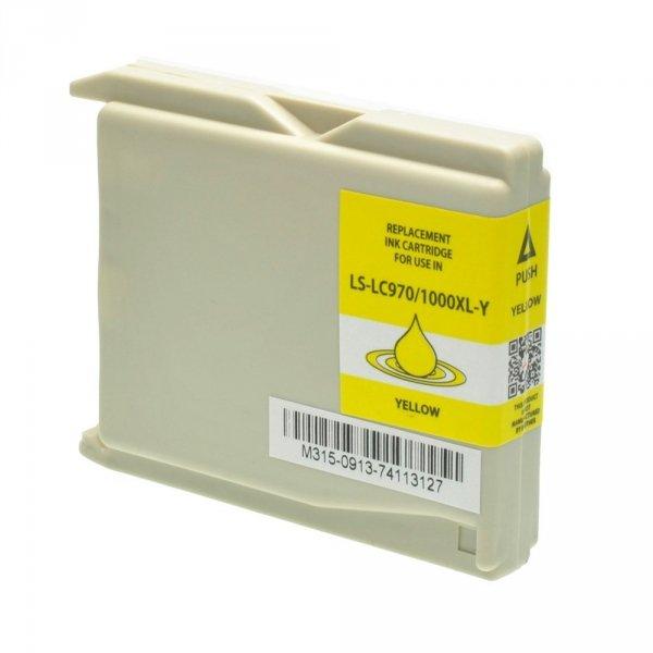 Zamiennik Tusz Brother LC970/LC1000XL Y - DCP 130C, 330C, 750CW, MFC 240CN, 480CN, 660C, 870CDN - GP-B970/1000XLY yellow