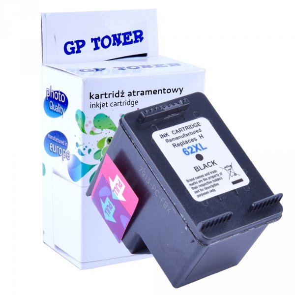 Tusz do HP 62XL OfficeJet 5740 5742 5745 8000 8045 - GP-H62XL BK - Czarny