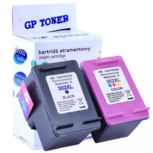 Zamiennik 2x Tusz do HP 302XL DeskJet 1110 2130 3630 4520 3830 - GP-H302XLBK+CMY Zestaw