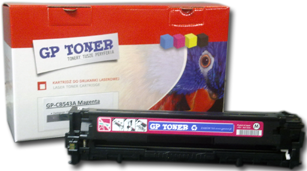 Toner Zamiennik purpurowy do HP CP1215, CP1515, CM1312 -  CB543A