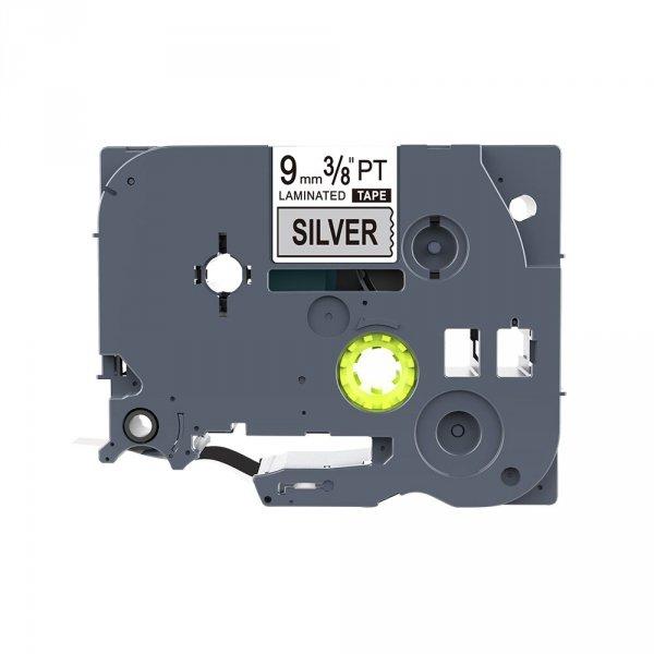 Taśma zamiennik do Brother TZ-921 Czarny na srebrnym