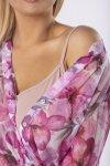 wzorzysta sukienka maxi z siateczki