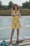 Dziewczęca sukienka we wzory L275