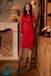 Sukienka biznesowa z żabotem L270