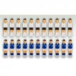 Komplet piłkarzyków dwie drużyny 2,5 x 10,5 x 2 cm