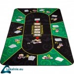 Składana mata do pokera, zielono-czarna, 160 x 80 cm