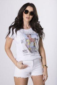 t-shirt z kryształkami