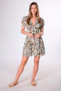 sukienka mini z dekoltem V