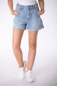 jeansowe szorty z szerokimi nogawkami