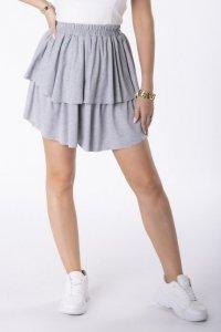 dresowa spódnica mini z falbanami