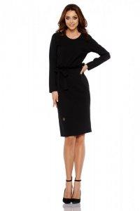 Biznesowa sukienka z paskiem L289