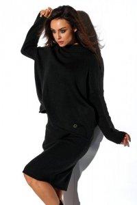 Komplet sweter półgolf i spódnica LS260