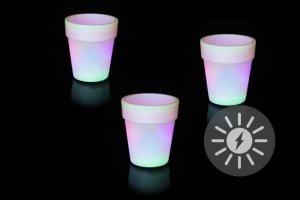 Oświetlenie solarne - doniczka ze zmianą koloru - 3 szt