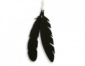 Dekoracyjne pióra z filcu 2szt. - czarne