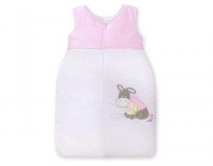 Śpiworek niemowlęcy- Osiołek Lucek różowy