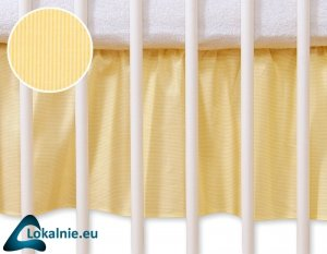 Falbanka maskująca 140x70cm- Osiołek Lucek żółty