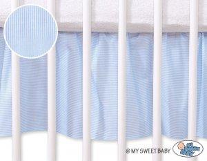 Falbanka maskująca 140x70cm- Osiołek Lucek niebieski