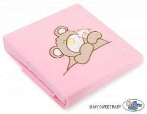 Kocyk polarowy- Miś Barnaba różowy