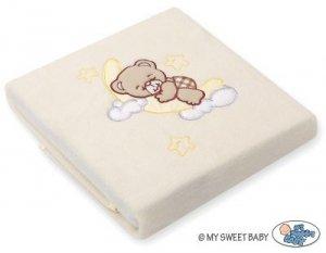 Kocyk polarowy- Dobranoc brązowe