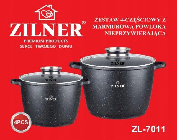 ZESTAW 2 GARNKÓW MARMUROWYCH 10L + 6.2L WYSOKI ZILNER ZL-7011
