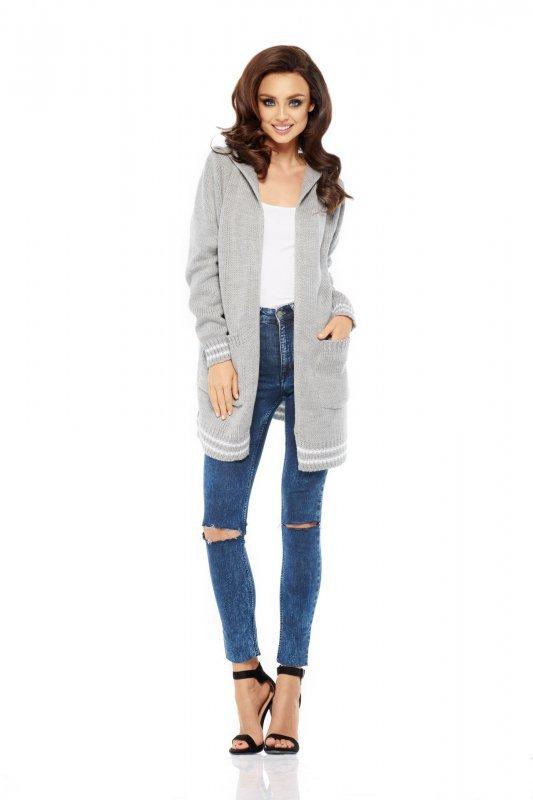 Luźny casualowy sweter narzutka LS210
