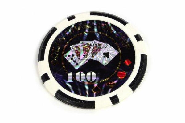 żetony na sztuki design Ocean nominał 100 - 50 szt