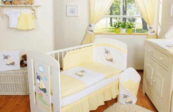 Pościel 2-cz Osiołek Lucek żółty