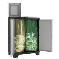 Szafka do segregacji odpadów Cabinet Split Premium Black/Grey