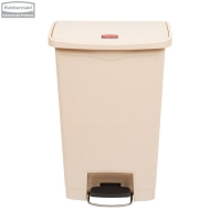 Kosz Slim Jim® Step-On 50L Resin Containers beige