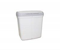 Kosz do segregacji śmieci 2x25L ECOBIN biały